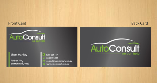 Auto Consult Business Cards and Stationery  Draft # 186 by 14stars