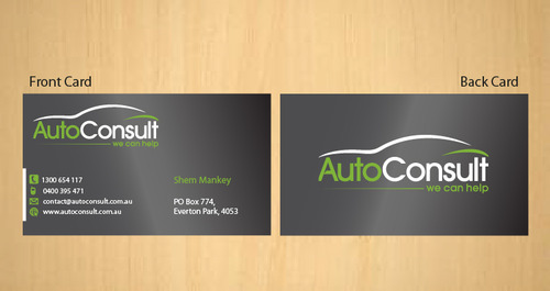 Auto Consult Business Cards and Stationery  Draft # 187 by 14stars