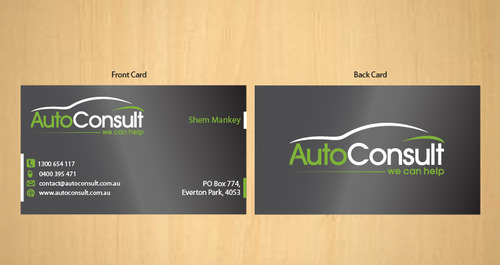 Auto Consult Business Cards and Stationery  Draft # 188 by 14stars
