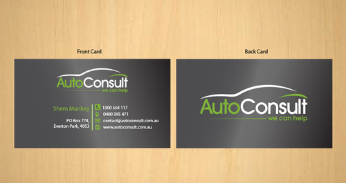 Auto Consult Business Cards and Stationery  Draft # 190 by 14stars