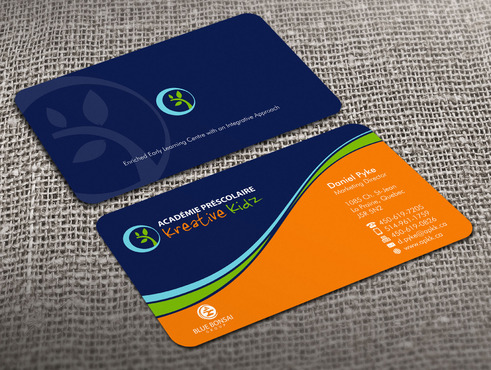 Preschool Academy Kreative Kidz Business Cards and Stationery  Draft # 2 by Xpert