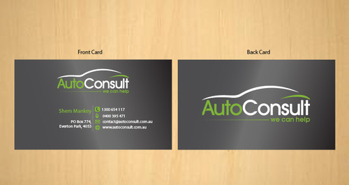Auto Consult Business Cards and Stationery  Draft # 191 by 14stars