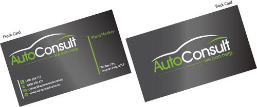 Auto Consult Business Cards and Stationery  Draft # 192 by 14stars
