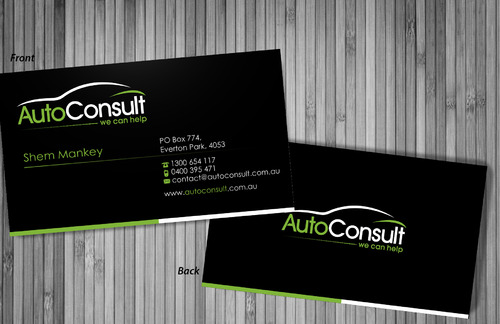Auto Consult Business Cards and Stationery  Draft # 195 by sevensky