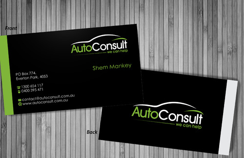 Auto Consult Business Cards and Stationery  Draft # 196 by sevensky