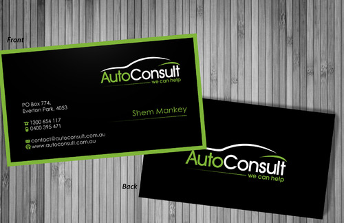 Auto Consult Business Cards and Stationery  Draft # 197 by sevensky