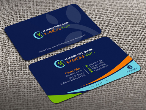 Preschool Academy Kreative Kidz Business Cards and Stationery  Draft # 22 by Xpert