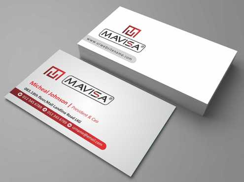 Mavisa GmbH Business Cards and Stationery  Draft # 110 by Dawson