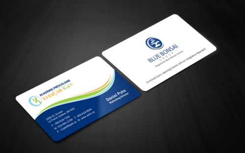 Preschool Academy Kreative Kidz Business Cards and Stationery Winning Design by einsanimation