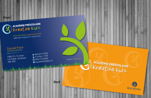 Preschool Academy Kreative Kidz Business Cards and Stationery  Draft # 218 by sevensky