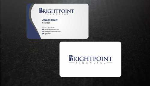 Brightpoint Financial Business Cards and Stationery  Draft # 145 by Dawson