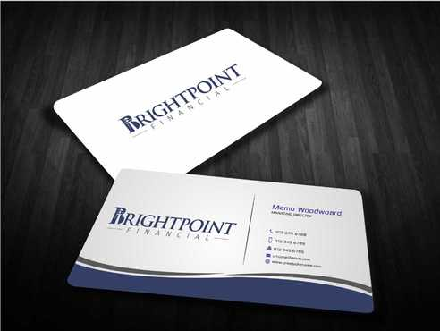 Brightpoint Financial Business Cards and Stationery  Draft # 146 by Dawson
