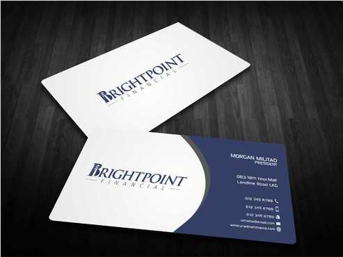 Brightpoint Financial Business Cards and Stationery  Draft # 149 by Dawson