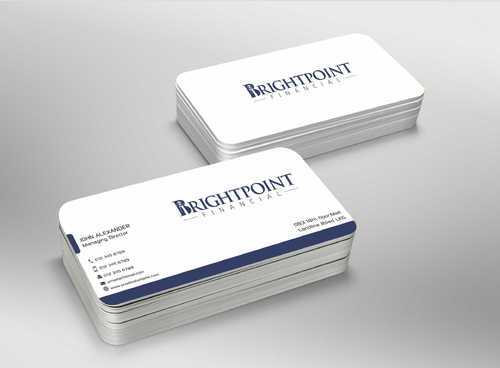 Brightpoint Financial Business Cards and Stationery  Draft # 152 by Dawson