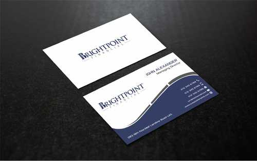 Brightpoint Financial Business Cards and Stationery  Draft # 159 by Dawson