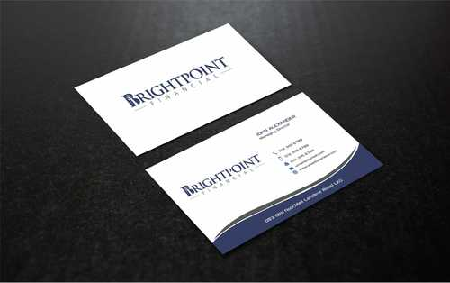 Brightpoint Financial Business Cards and Stationery  Draft # 160 by Dawson