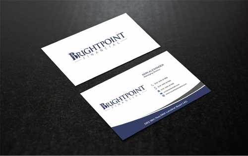 Brightpoint Financial Business Cards and Stationery  Draft # 161 by Dawson