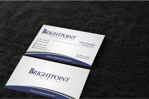 Brightpoint Financial Business Cards and Stationery  Draft # 163 by Dawson