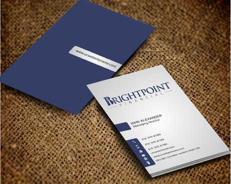 Brightpoint Financial Business Cards and Stationery  Draft # 164 by Dawson