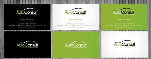 Auto Consult Business Cards and Stationery  Draft # 226 by sevensky