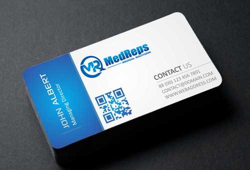 medreps bcards Business Cards and Stationery  Draft # 104 by Dawson
