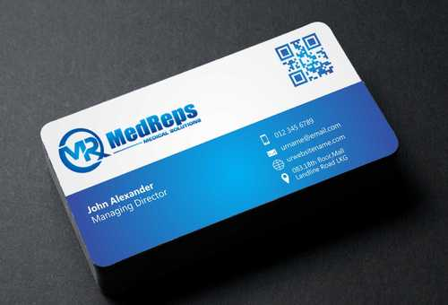medreps bcards Business Cards and Stationery  Draft # 111 by Dawson