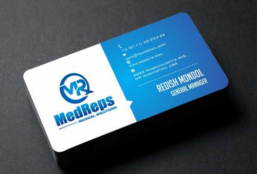 medreps bcards Business Cards and Stationery  Draft # 116 by Dawson