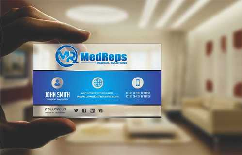 medreps bcards Business Cards and Stationery  Draft # 117 by Dawson