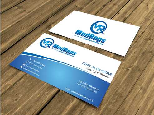 medreps bcards Business Cards and Stationery  Draft # 122 by Dawson
