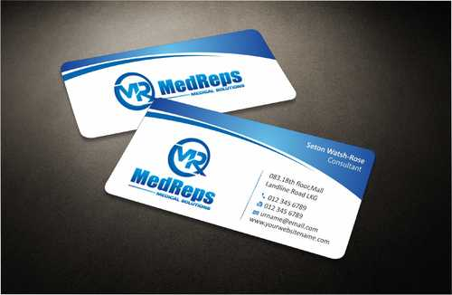 medreps bcards Business Cards and Stationery  Draft # 127 by Dawson