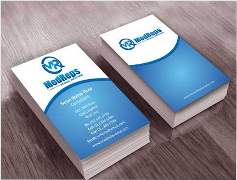 medreps bcards Business Cards and Stationery  Draft # 128 by Dawson