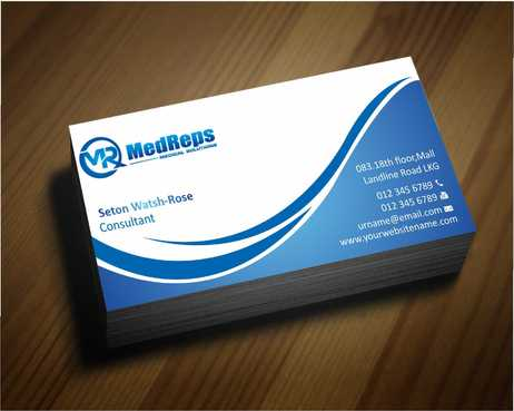 medreps bcards Business Cards and Stationery  Draft # 131 by Dawson