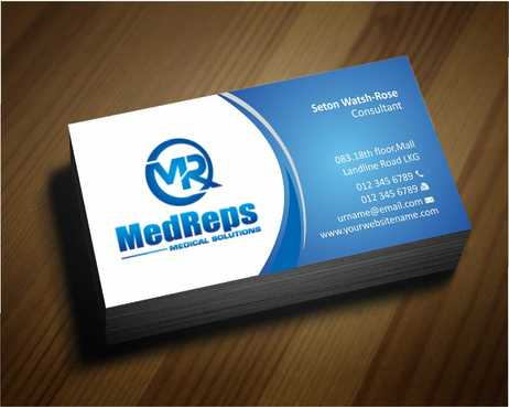 medreps bcards Business Cards and Stationery  Draft # 132 by Dawson