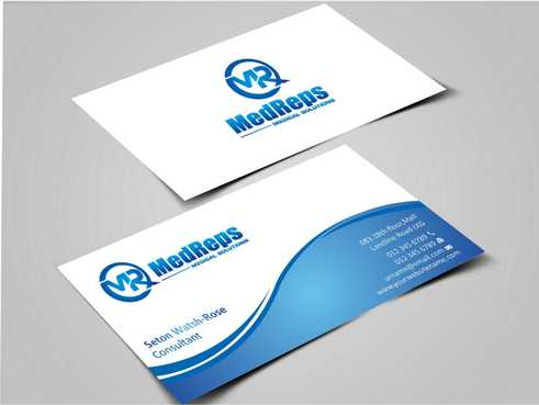 medreps bcards Business Cards and Stationery  Draft # 134 by Dawson