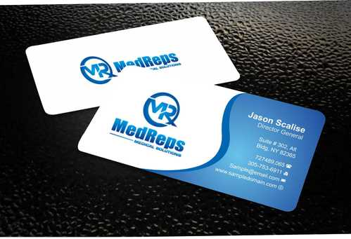 medreps bcards Business Cards and Stationery  Draft # 137 by Dawson