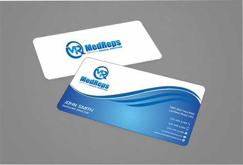 medreps bcards Business Cards and Stationery  Draft # 141 by Dawson