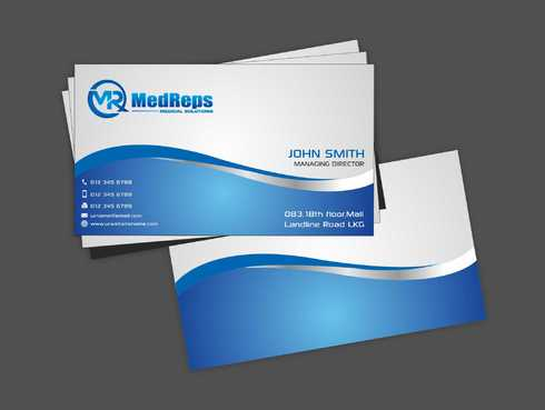 medreps bcards Business Cards and Stationery  Draft # 142 by Dawson