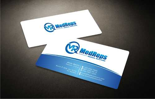 medreps bcards Business Cards and Stationery  Draft # 146 by Dawson