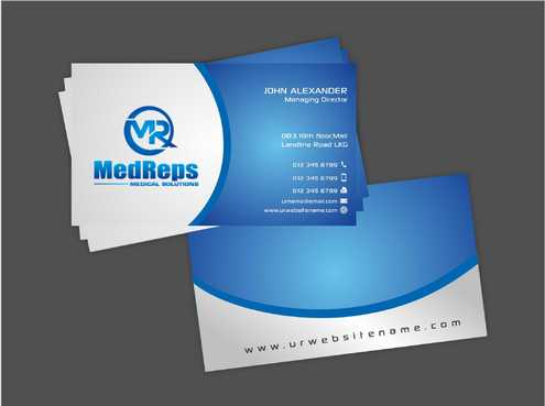 medreps bcards Business Cards and Stationery  Draft # 149 by Dawson