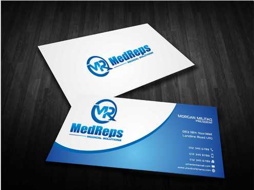 medreps bcards Business Cards and Stationery  Draft # 152 by Dawson