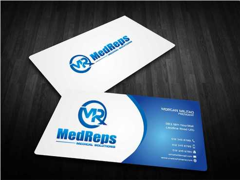 medreps bcards Business Cards and Stationery  Draft # 153 by Dawson