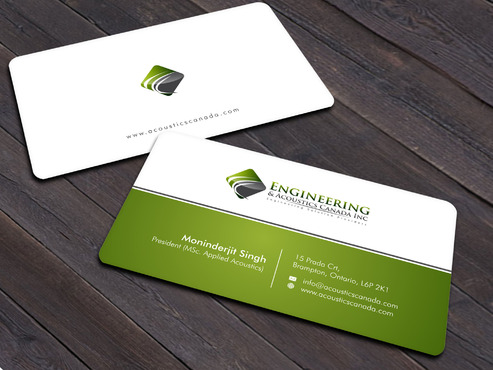 Engineering & Acoustics Canada Inc. Business Cards and Stationery  Draft # 12 by Xpert