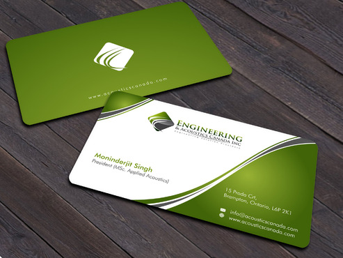 Engineering & Acoustics Canada Inc. Business Cards and Stationery  Draft # 13 by Xpert