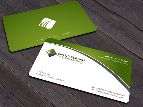 Engineering & Acoustics Canada Inc. Business Cards and Stationery  Draft # 14 by Xpert