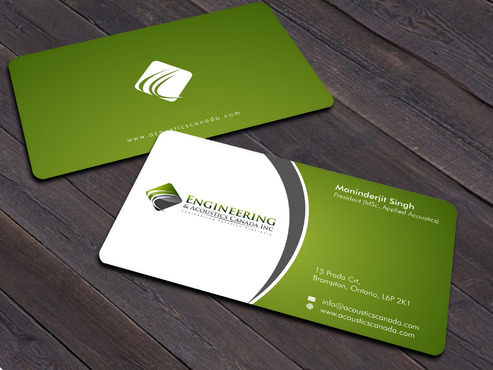Engineering & Acoustics Canada Inc. Business Cards and Stationery  Draft # 15 by Xpert