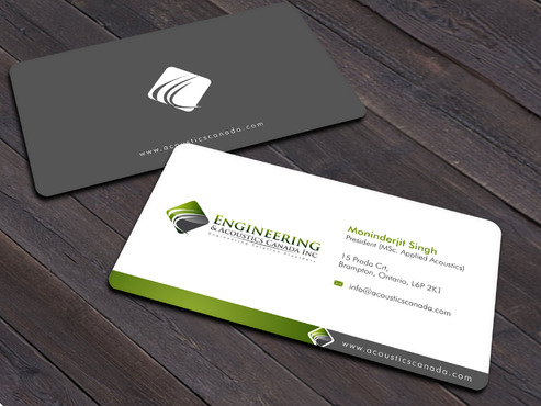 Engineering & Acoustics Canada Inc. Business Cards and Stationery  Draft # 18 by Xpert