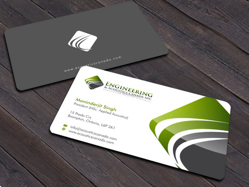 Engineering & Acoustics Canada Inc. Business Cards and Stationery  Draft # 21 by Xpert