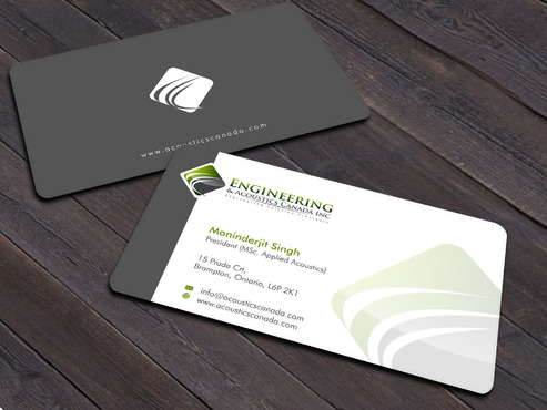 Engineering & Acoustics Canada Inc. Business Cards and Stationery  Draft # 22 by Xpert