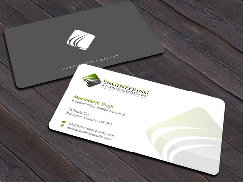 Engineering & Acoustics Canada Inc. Business Cards and Stationery  Draft # 23 by Xpert