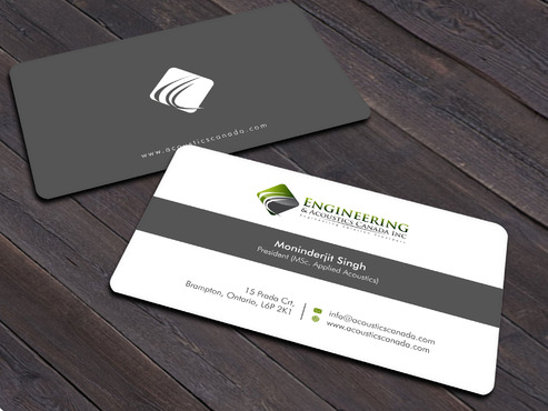 Engineering & Acoustics Canada Inc. Business Cards and Stationery  Draft # 25 by Xpert